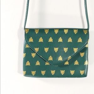 Mossimo Gold and Green Tiger Crossbody Bag